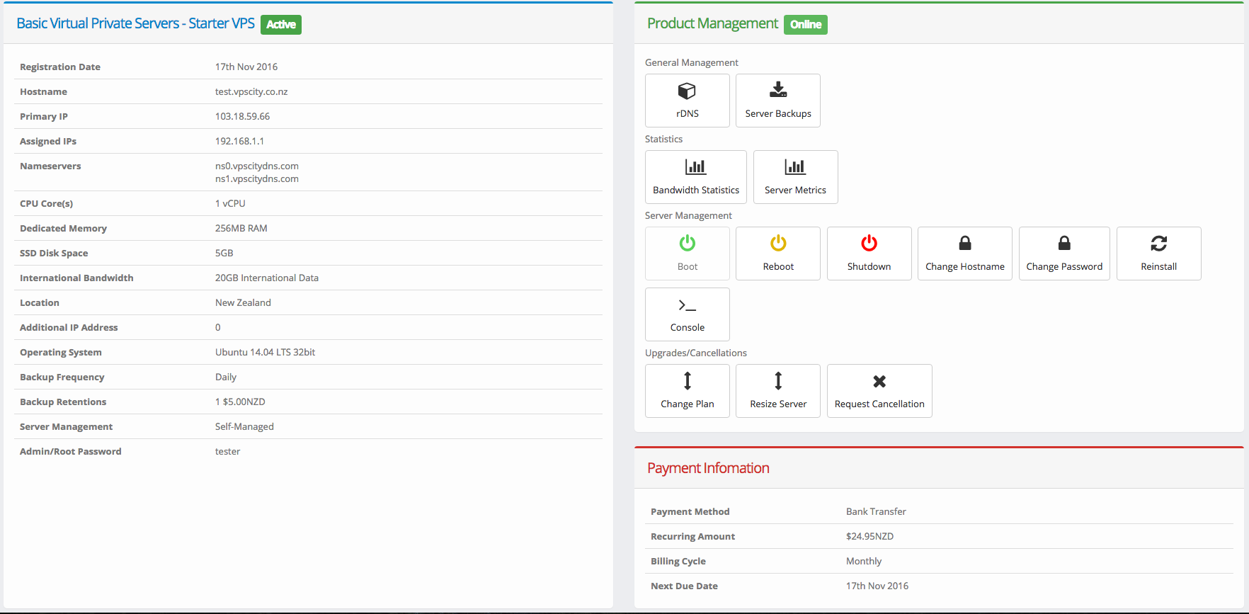 Server Management Features